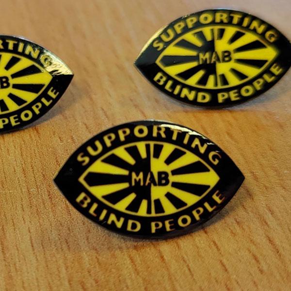 MAB pin badge